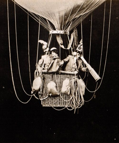 Balloon ride. From the lost film To the Stars (1906, dir. Georges Méliès)