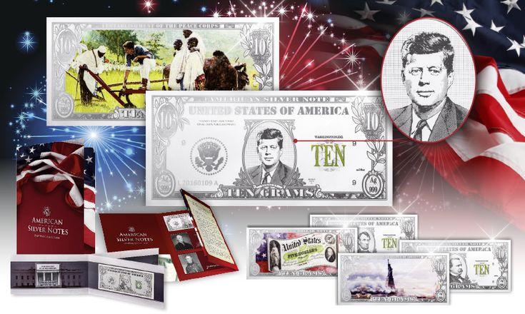 """TZON KENNENTY, Ασημένιο Χαρτονόμισμα,100 χρόνια """"JFK"""",Ασήμι 999,2017 Μπείτε στον θεαματικό κόσμο των ασημένιων χαρτονομισμάτων: Η πολυτάραχη ιστορία των ΗΠΑ μέσα απο την ολοκαίνουργια τεχνική flat bar.  • Αυτή η πρωτοποριακή τεχνική  με 3D effect και τα έντονα χρώματα που τονίζουν τις λεπτομέρειες!• Το χαρtονόμισμα στέλνεται σε ειδικά σχεδιασμένη συσκευασία συλλογής!    ΒΑΡΟΣ  10 g - ΜΕΤΑΛΛΟ ΑΣΗΜΙ - ΚΑΘΑΡΟΤΗΤΑ  .999-  ΔΙΑΣΤΑΣΕΙΣ 150 x 70 mm -  ΠΟΙΟΤΗΤΑ Proof-  ΕΙΔΙΚΕΣ ΤΕΧΝΙΚΕΣ 3D ΚΑΙ…"""
