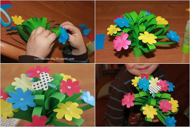 Kwiatki Na Dzien Matki Praca Plastyczna Z Kolorowego Papieru Lei Necklace