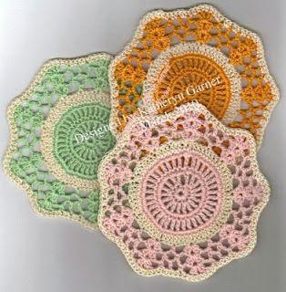 "THREAD 'N' STITCHES: ""Spring"" Free Coasters crochet pattern ✿⊱╮Teresa Restegui http://www.pinterest.com/teretegui/✿⊱╮"