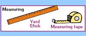 Measuring Tools - Yard Stick - Measuring Tape