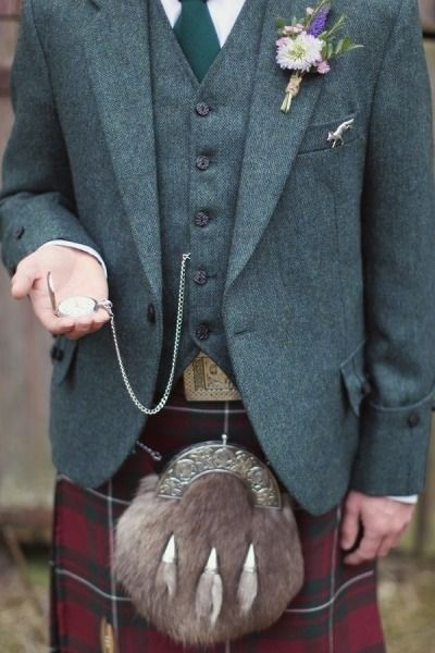 10 Grooms who rocked a kilt - Rustic romance | CHWV