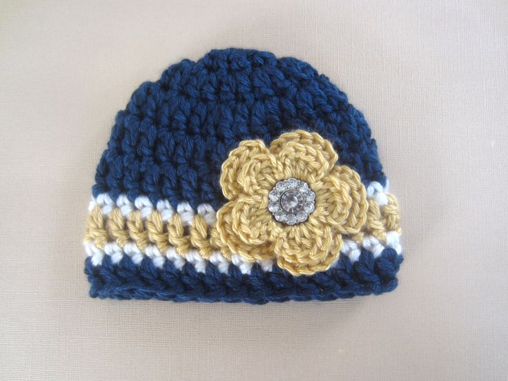 Notre Dame Baby Hat - Girls Chunky Notre Dame Irish Baby Hat - Great Gift - Photo Prop - Fighting Irish - Navy Baby Hat by knotgranny on Etsy https://www.etsy.com/listing/216843690/notre-dame-baby-hat-girls-chunky-notre