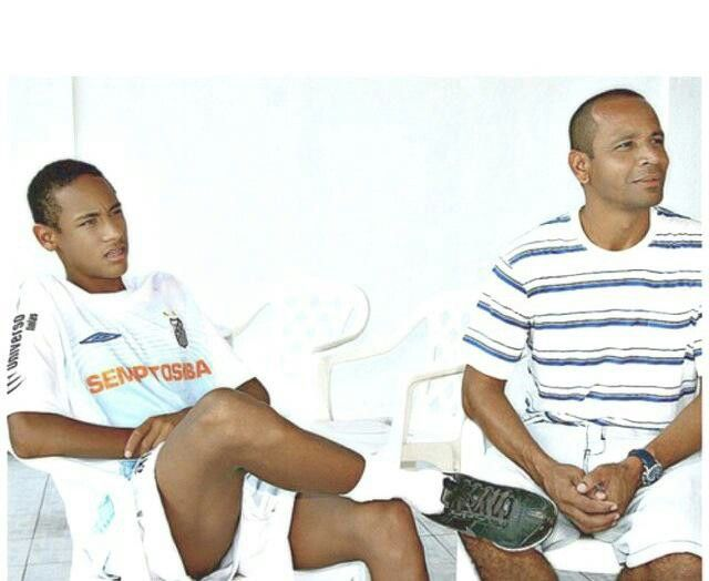 Young neymar & his dad neymar sr.