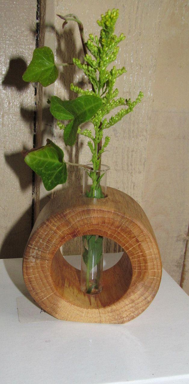 Vasen - Holzvase Eichenring - ein Designerstück von holzheer58 bei DaWanda