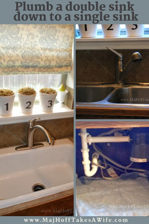 New Single Basin Sink Install Downsizing Double Sink Drains Down