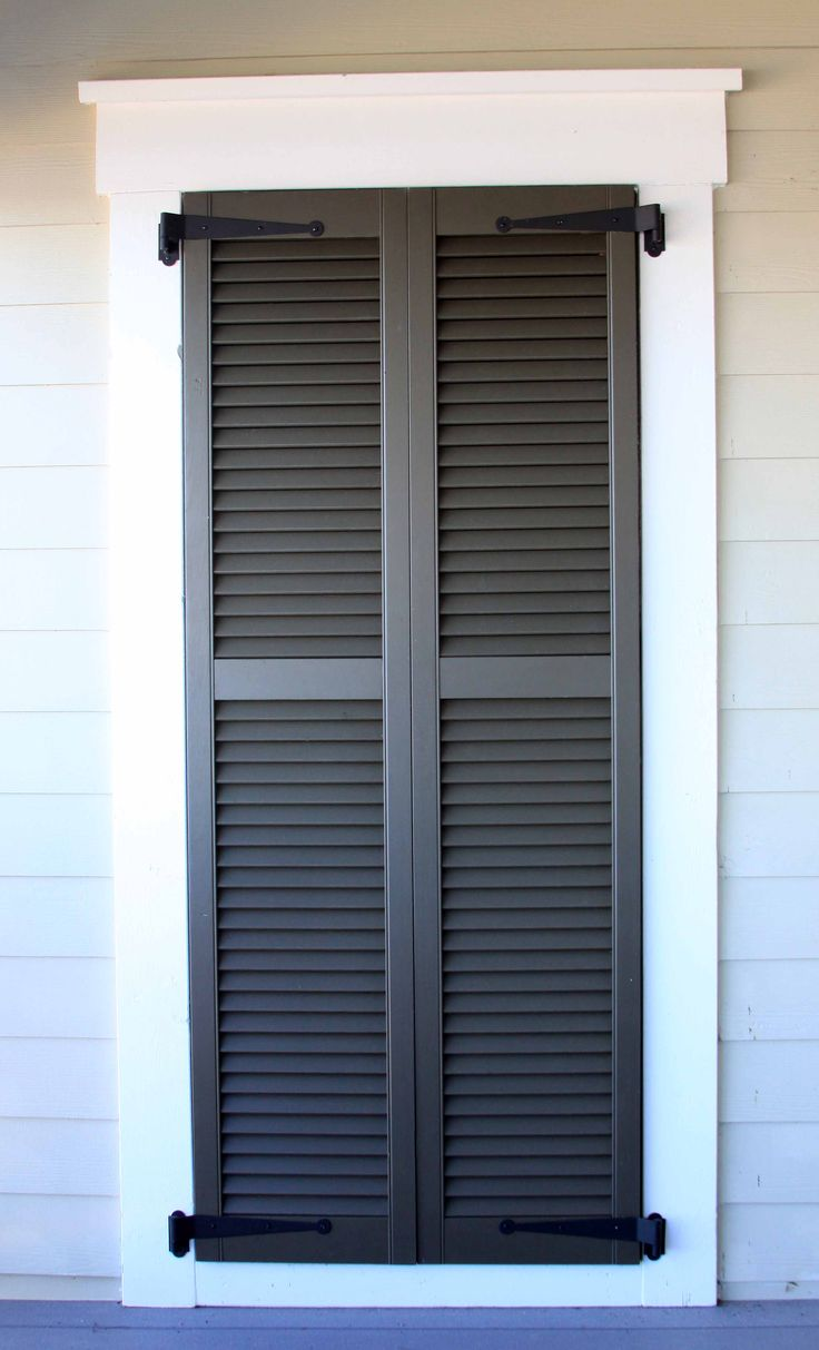 Exterior Wood Louvered Shutter