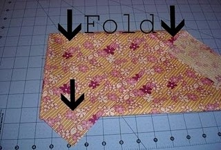 How to fold fabric for cutting bias strips.. Cause i always forget!