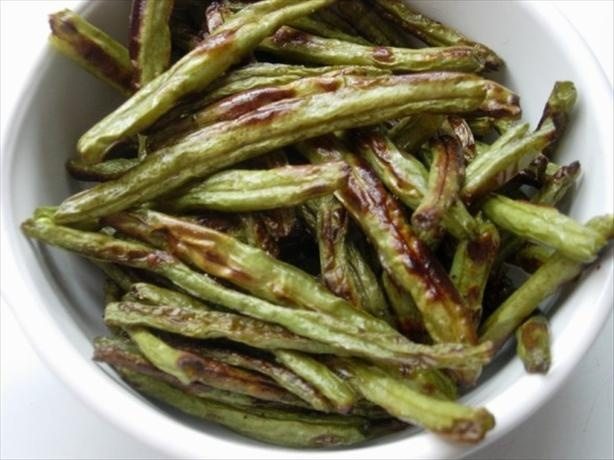 Roasted Green Beans: Beans Food, Fresh Greenbean Roasted, Green Beans Roasted, Roasted Green Beans, Green Beans Fried, Fried Green Beans, Fast Food, French Green Beans, Roasted Veggies