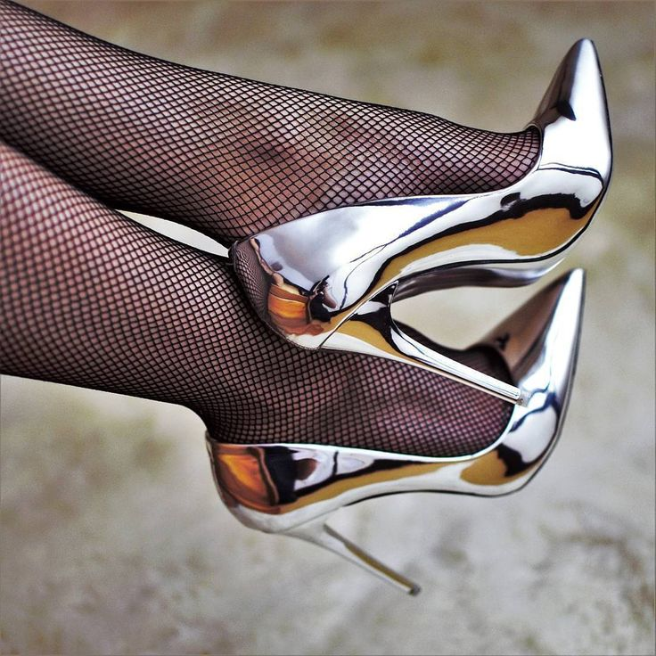 Chrome high heels. My two favorite things!