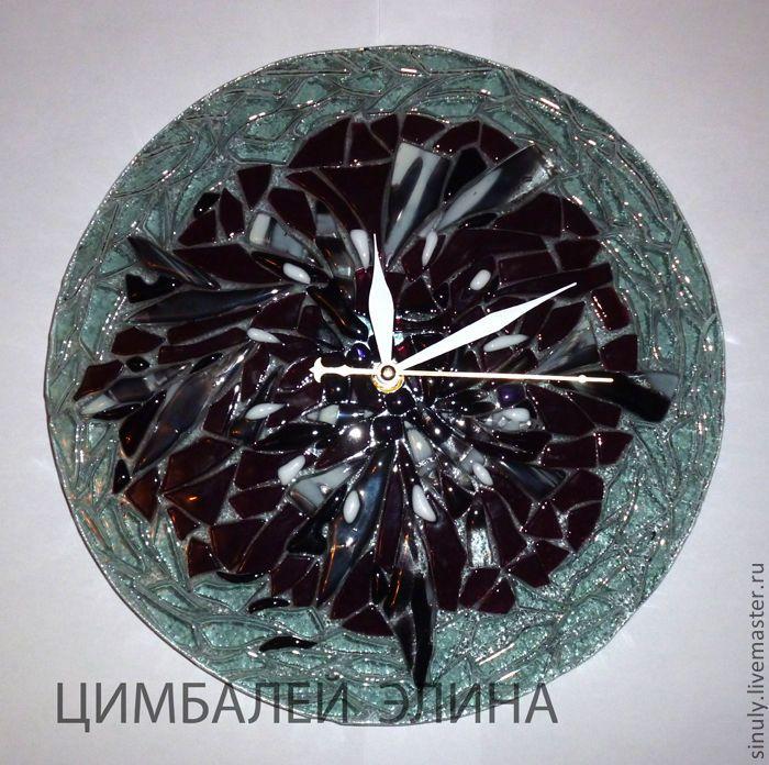 """Купить Часы """"Настроение"""" фьюзинг - часы, часы настенные, часы интерьерные, часы фьюзинг"""