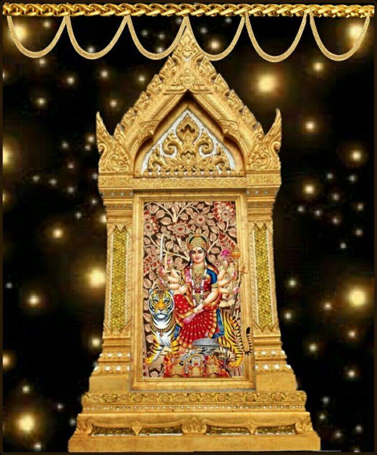 Navaratri durga golden decoration