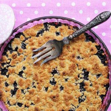 Smulpaj med blåbär - Recept - Tasteline.com