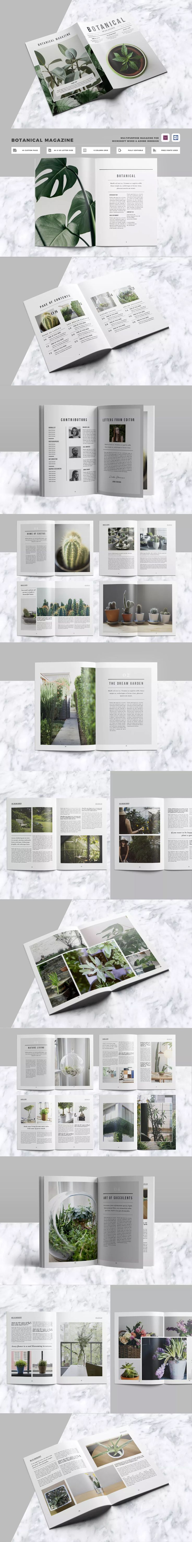 Clean & Professional Magazine Template InDesign INDD - 40 Pages A4 & US Letter Size