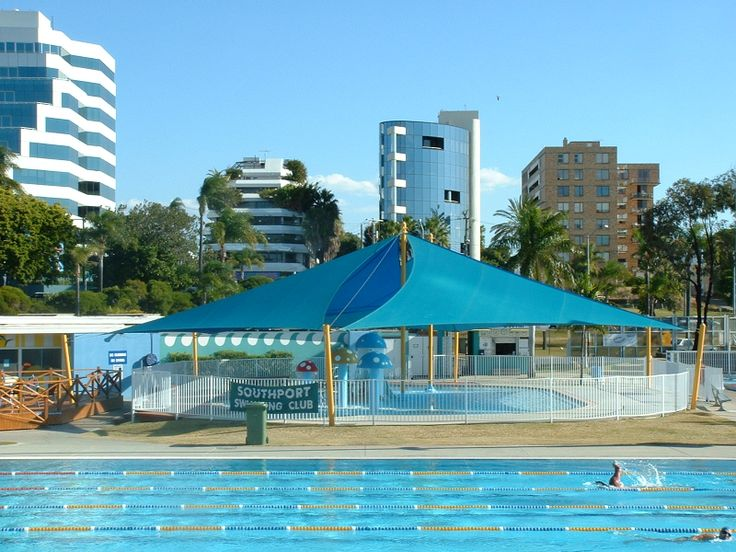 RAINBOW SHADE FABRIC - COMMERCIAL APPLICATION - POOL SHADE