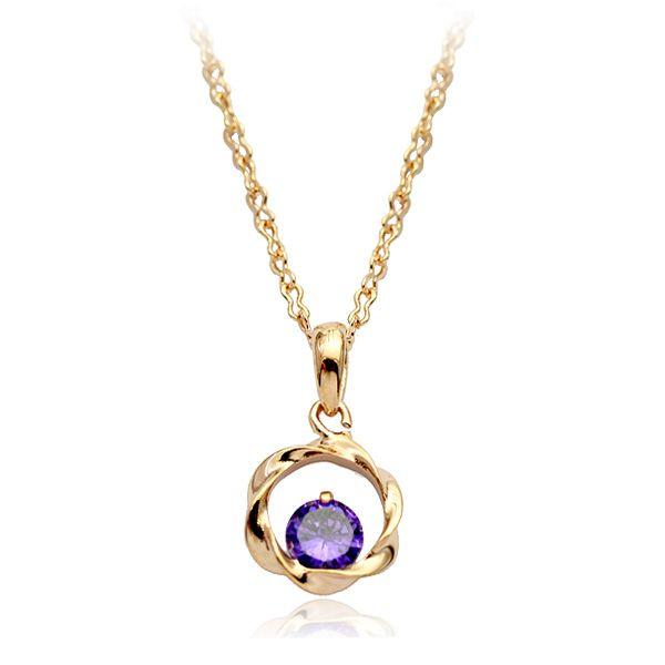 100% оптовая продажа ювелирных изделий австрия алмаз шарм pendnat ожерелье