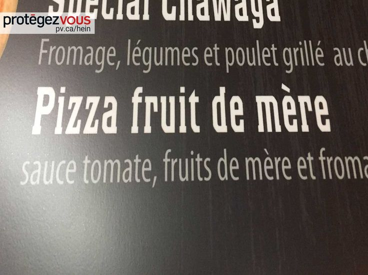 «Dis donc! J'aimerais beaucoup goûter à cette pizza faite à base de mamans!», s'exclame le client du resto.