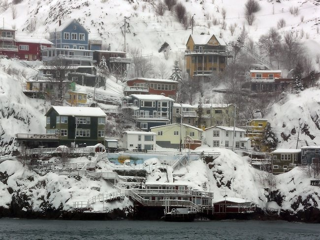 The historic St. John's Battery in St. John's Newfoundland, Canada  is covered in snow after a storm. Picture: AP