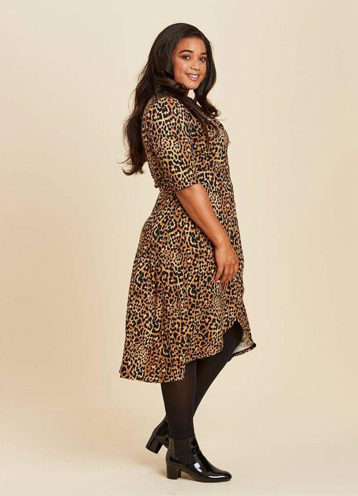 4965e505e5aaf2 Lotta Leopard Print Wrap Dress | Midsize Fashion | Wrap Dress ...