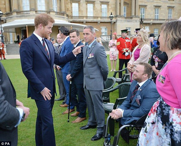 The Prince who himself served in the army was on typically relaxed form as he engaged with...