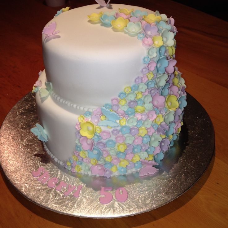 Pastel Blossom Cake