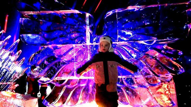 VLOG: ЛЕДЯНЫЕ СКУЛЬПТУРЫ 2016 Герои мультфильмов Ледяные фигуры Ice scul...