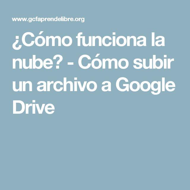 ¿Cómo funciona la nube? - Cómo subir un archivo a Google Drive