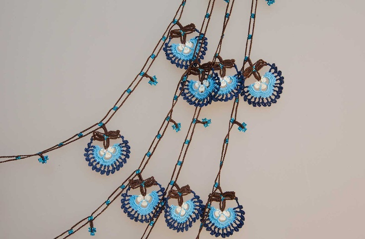 Etsy Transaction - turkish lace - needle lace - crochet - oya necklace.