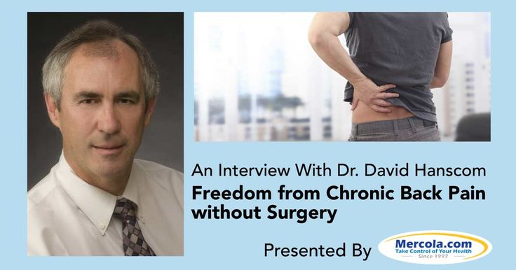 Dr. Hanscom eventually developed a system for treating chronic pain by addressing the physical, emotional, and mental component of anger and anxiety. http://articles.mercola.com/sites/articles/archive/2015/11/22/chronic-pain-treatment.aspx