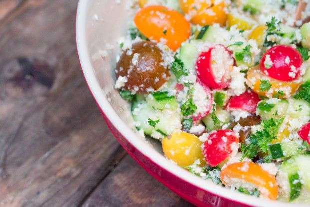 Cauliflower Rice Tabbouleh Salad