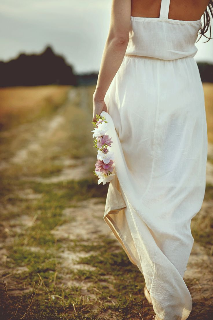 boho wedding, boho dress, flowercrown
