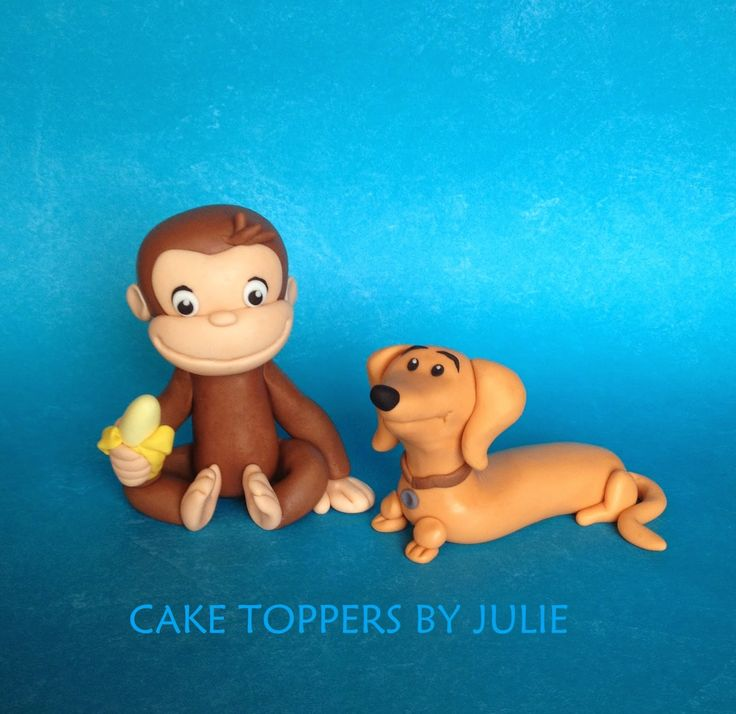 Curious George Cake & Cupcake Toppers
