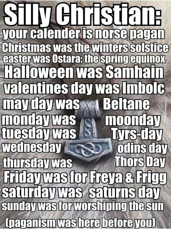 Couldn't resist pinning this since so many people, even atheists, think there was no Easter or midwinter celebration before Christianity was invented and therefor nothing to celebrate this time of year if you aren't a Christian.<<YES