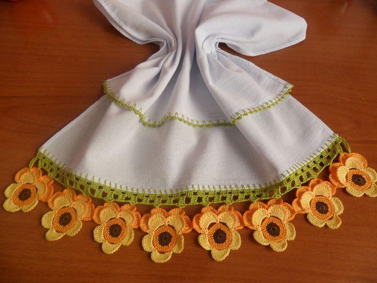 Amor-Perfeito em Crochê Pano de Prato -  /    Perfect Love up  Crocheted  Dishcloth -