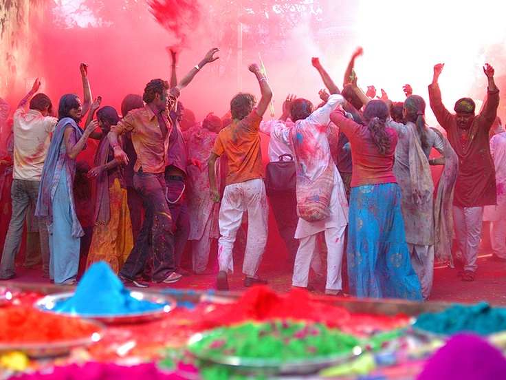 The festival of Holi has many purposes. First and foremost, it celebrates the beginning of the new season, spring. Originally, it was a festival that commemorated good harvests and the fertile land. Hindus believe it is a time of enjoying spring's abundant colors and saying farewell to winter. It also has a religious purpose, commemorating events present in Hindu mythology. During this event, participants hold a bonfire, throw colored powder at each other, and celebrate wildly.