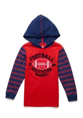 J. Khaki Sports Hoodie Toddler Boys - Red - 2T