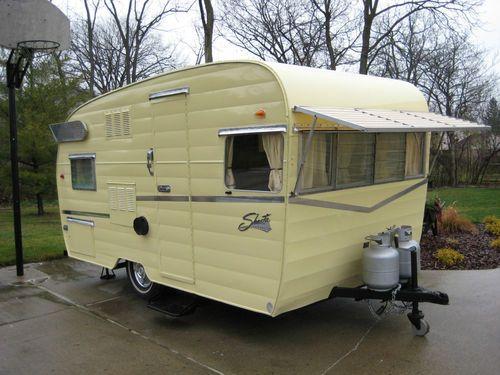 1962 Shasta Airflyte Canned Ham Vintage Travel Trailer Camper