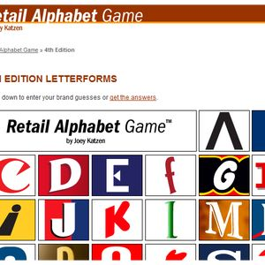 Fun, Free Logo Guessing Games and Quizzes (Online): Retail Alphabet Game by Joey Katzen
