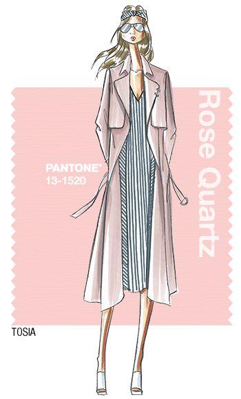 TOSIA in Pantone Rose Quartz - SPRING 2016 PANTONE's FashionColorReport