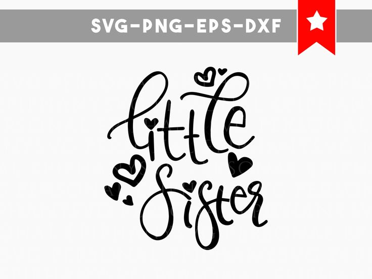 little sister svg, little sister shirt, cute svg, commercial use, handwritten font, silhouette files, children svg, svg files for silhouette by PersonalEpiphany on Etsy