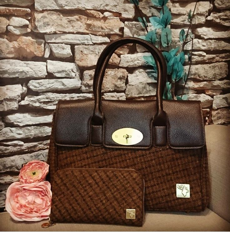 House of Tweed stun us again with this gorgeous handbag Rust Brown | Very stylish bag and the colours are so Autumnal | Get ahead this season with this gorgeous bag | Matching purse also available | Tweed effect | Only £34.99 for bag and £19.95 for the purse| Shop now! | www.lofthouse-equestrian.co.uk
