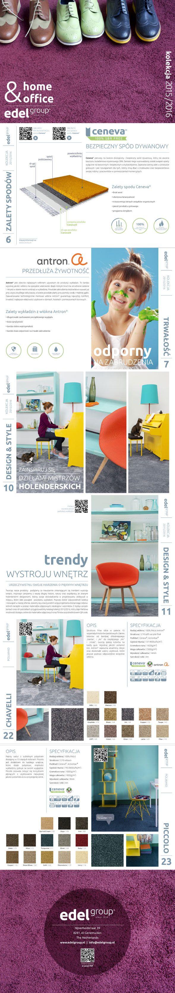 Skład katalogu dla wykładzin dywanowych firmy Edel | www.pinkelephant.pl