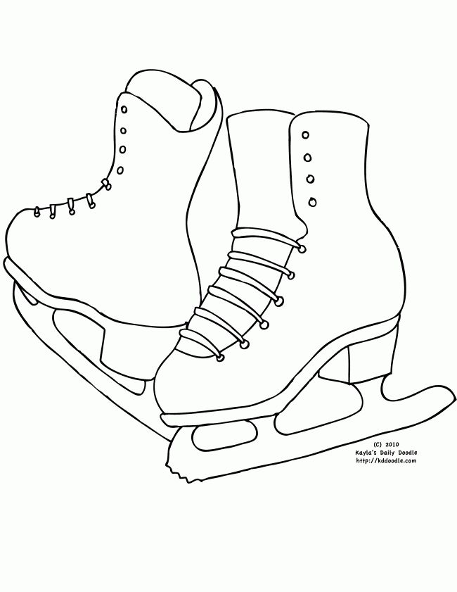 graphic relating to Hockey Skate Template Free Printable named Hockey Skate Template