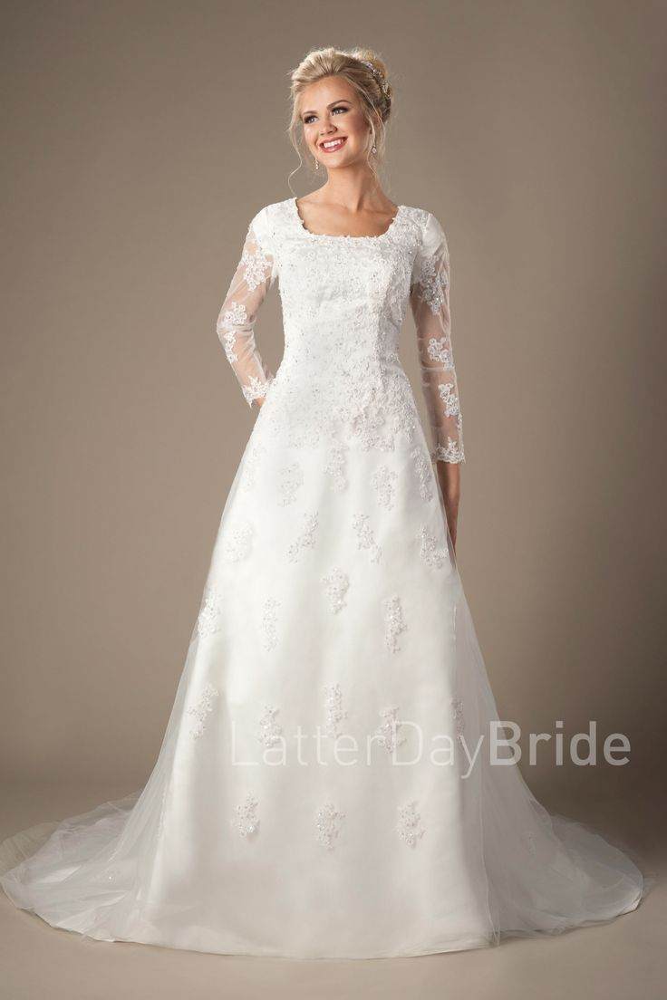 Murphy modest wedding dresses lds bride lace for Mormon modest wedding dresses
