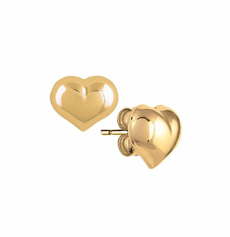 Orecchini donna, in oro giallo 750‰, cuore.: EURO 84,00