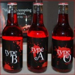 Vampire Drinks, decorated Vampire Glasses and custom Vampire Bottles for water, vampire drinks and wine are common party beverages to have at...