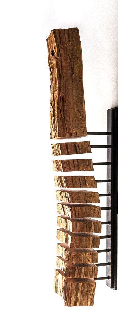 Holz Skulptur minimalistische Kunst-moderne von SplitGrain auf Etsy