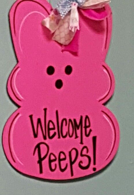 Peeps Wooden Door Hanger / Easter door hanger / Painting & Wine @Craft Night Out located in Statesville Nc