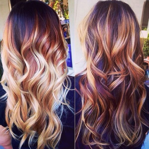 Rood & blonde highlights