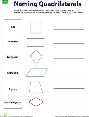 Worksheets 3rd Grade Geometry Worksheets 17 best ideas about geometry worksheets on pinterest third grade naming quadrilaterals